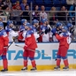 MINSK, BELARUS - MAY 11: Team Czech Republic celebrates after their first goal of the game against Team Sweden during preliminary round action at the 2014 IIHF Ice Hockey World Championship. (Photo by Richard Wolowicz/HHOF-IIHF Images)